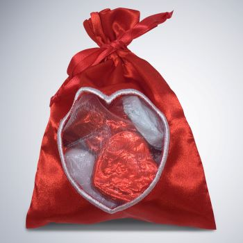 Be Mine - red satin bag Valentine's Day
