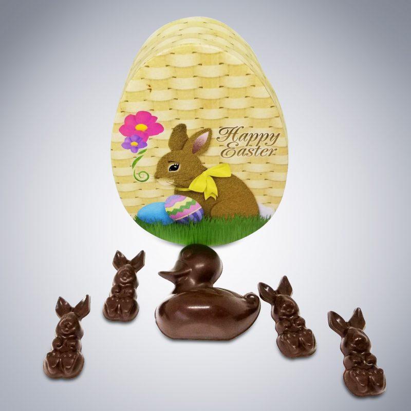 Bunny Surprise Wicker Box