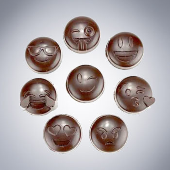 Chocolate Emjoi pieces