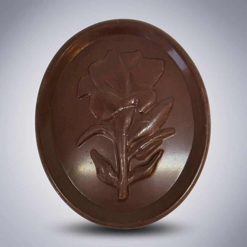 """Easter Lily"" Solid Chocolate Bar"