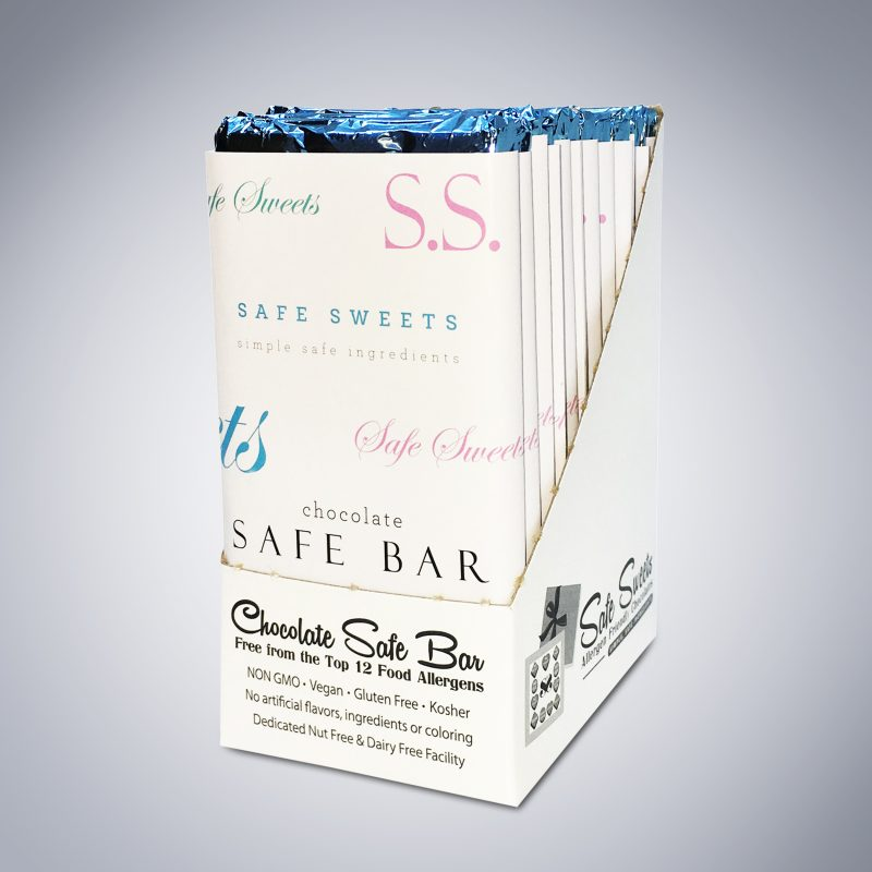Chocolate Safe Bar 12-pack angled