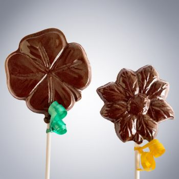 clover & sunflower lollipops