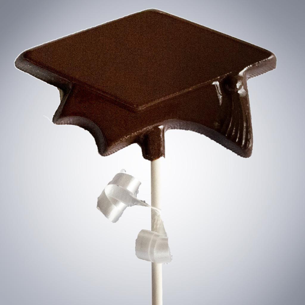 Chocolate Graduation Lollipops