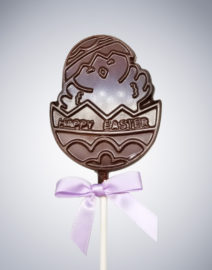 Happy Easter Chickie Chocolate Lollipop