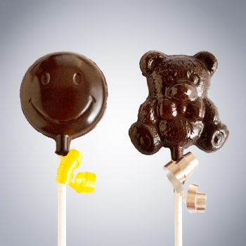 feel better smiley face teddy bear lollipops