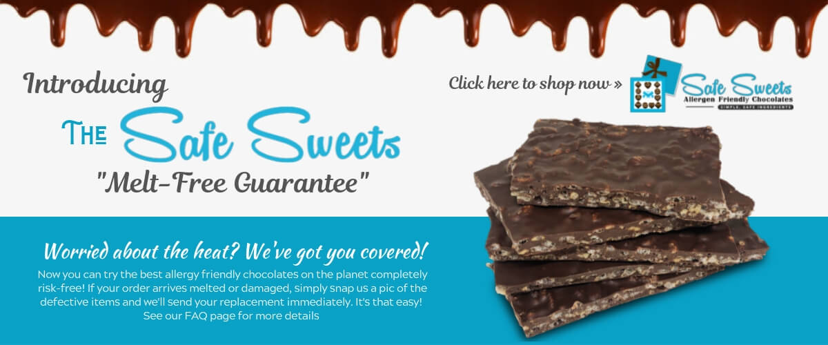 Allergy Friendly Chocolates Home - Safe Sweets Melt-Free Guarantee