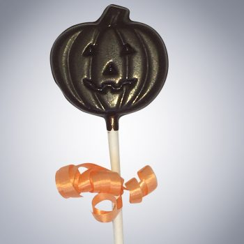 Chocolate Jack-o-lantern lollipop
