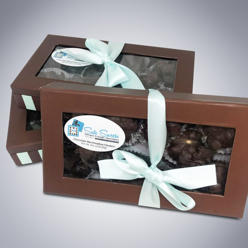 Chocolate Marshmallow Clusters boxes