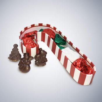 Chocolate Candy Cane Box