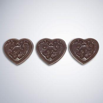 Chocolate Be Mine - red satin bag