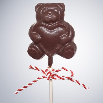 Chocolate Bear my Heart Lollipop (1 oz)