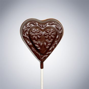 Chocolate Flower Heart Lollipop