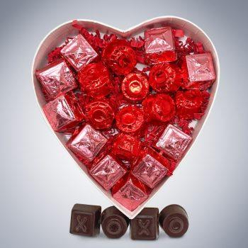 Chocolate Hugs & Kisses Gift Box (inside)
