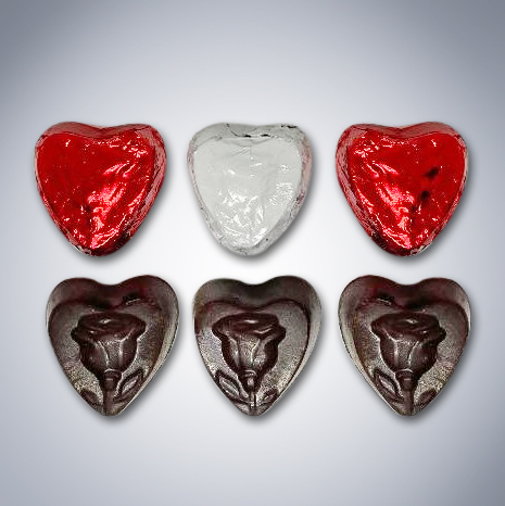 """Chocolate """"Here's My Heart"""" Gift Bag pieces"""