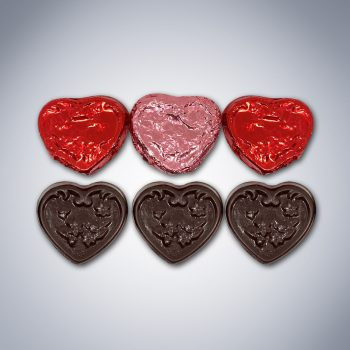 "Chocolate ""Be Mine"" Heart Bag pieces"