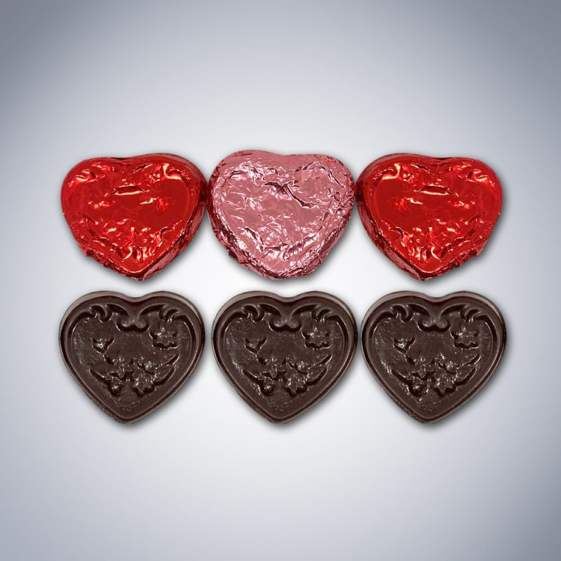 """Chocolate """"Be Mine"""" Heart Bag pieces"""