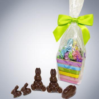 """Chocolate """"Bunny Bunch"""" Easter Gift Basket"""